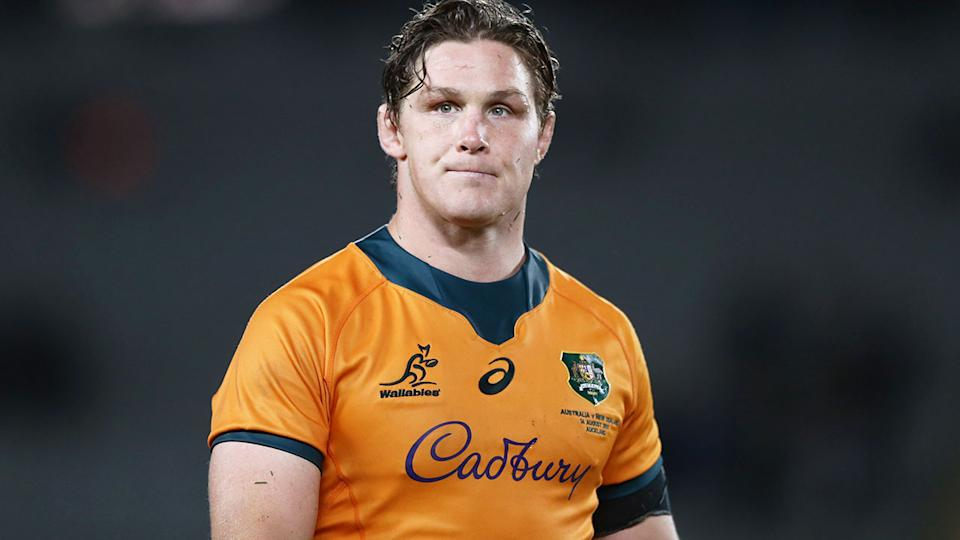 Seen here, Michael Hooper is set to surpass George Gregan's record for most Tests as Wallabies captain.