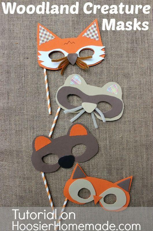 """<p>Give your little one options this Halloween. To make these creature masks, use simple printables, foam sheets, pipe cleaners, scrapbook paper, and a straw for the mask's handle.</p><p><strong>Get the tutorial at <a href=""""http://hoosierhomemade.com/fall-party-for-kids-with-woodland-creature-mask-tutorial/"""" rel=""""nofollow noopener"""" target=""""_blank"""" data-ylk=""""slk:Hoosier Homemade"""" class=""""link rapid-noclick-resp"""">Hoosier Homemade</a>.</strong></p>"""