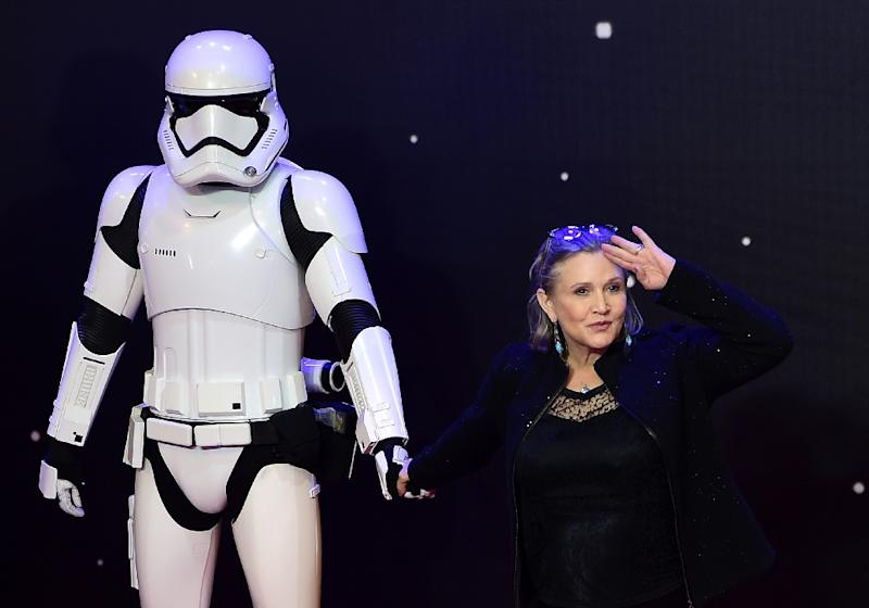 """Late US actress Carrie Fisher will make a posthumous appearance in """"Star Wars: Episode IX,"""" Disney announced"""