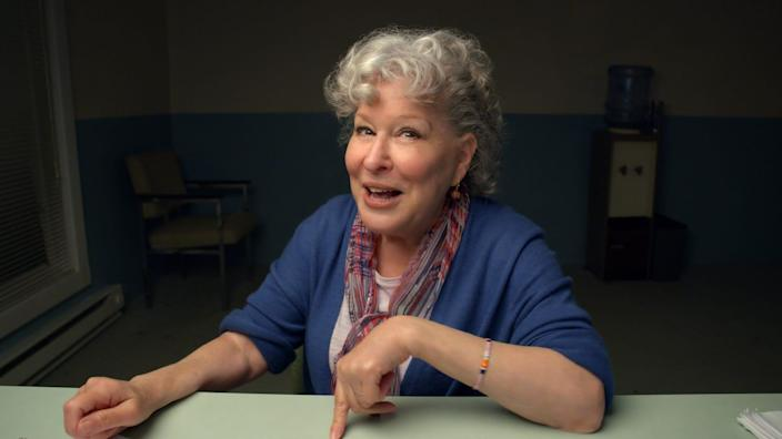 """Bette Midler in HBO's """"Coastal Elites,"""" a forthcoming comedy from HBO that was filmed entirely in quarantine."""