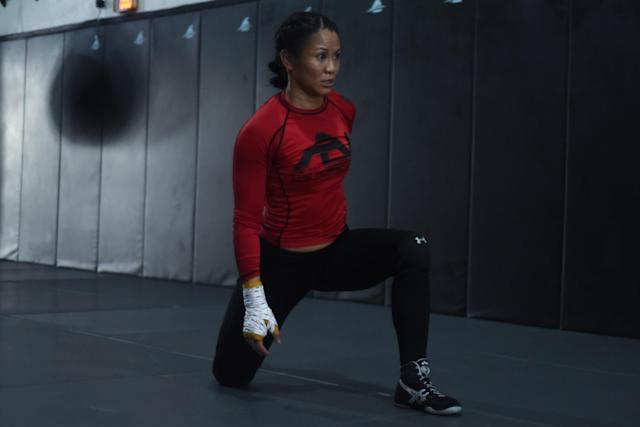 Ana Julaton, a two-time women's boxing champion, will fight Heather Hardy Friday at Bellator 194 on the Paramount Network. (Getty Images)