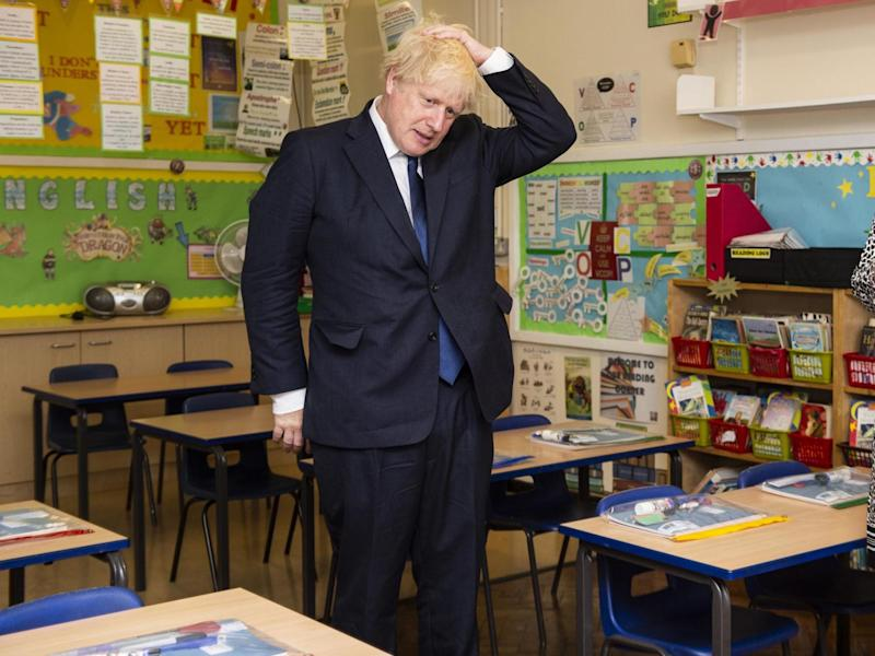 Boris Johnson has described the return of schools as the 'national priority': Lucy Young/Evening Standard/PA Wire