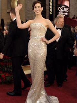 "Anne Hathaway in ""The Devil Wears Prada"" wore Spanx to downsize from a 6 to a 4 overnight."