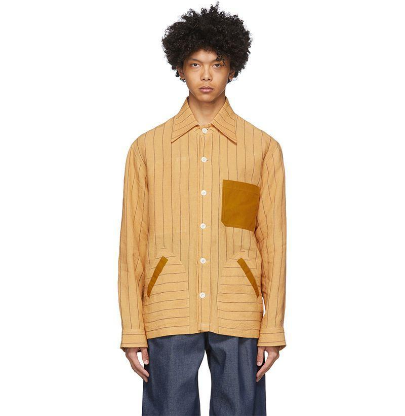 """<p><strong>Nicholas Daley</strong></p><p>ssense.com</p><p><strong>$168.00</strong></p><p><a href=""""https://go.redirectingat.com?id=74968X1596630&url=https%3A%2F%2Fwww.ssense.com%2Fen-us%2Fmen%2Fproduct%2Fnicholas-daley%2Fyellow-yussef-shirt-jacket%2F4830911&sref=https%3A%2F%2Fwww.esquire.com%2Fstyle%2Fmens-fashion%2Fg33418169%2Fbest-mens-linen-shirts%2F"""" rel=""""nofollow noopener"""" target=""""_blank"""" data-ylk=""""slk:Buy"""" class=""""link rapid-noclick-resp"""">Buy</a></p><p>Yes, there's only an XXS left. You still seriously expect me not to include this?!</p>"""