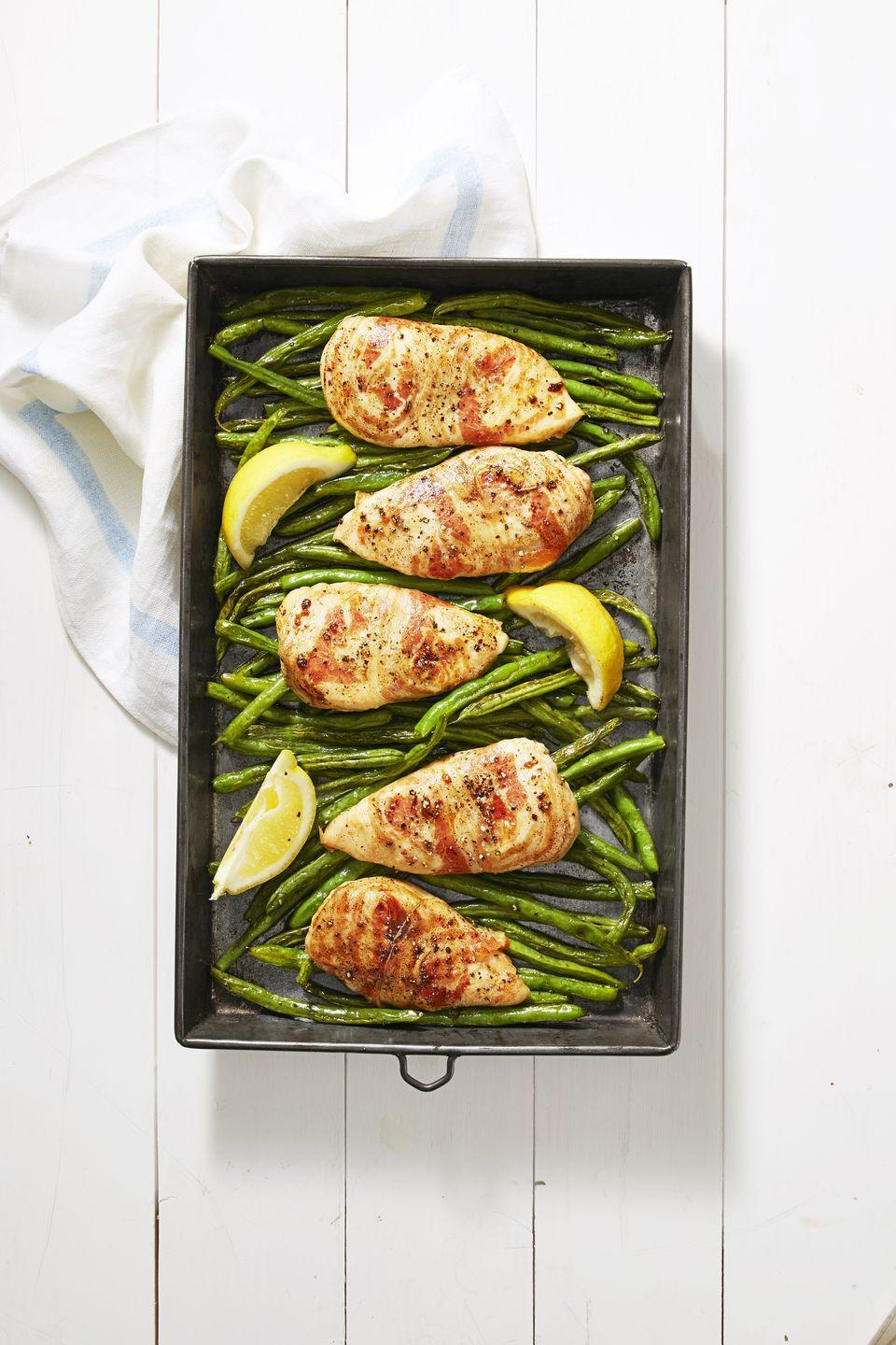 "<p>Turn four ingredients into a crispy chicken bake in just minutes.</p><p><em><a href=""https://www.goodhousekeeping.com/food-recipes/a38872/pancetta-chicken-recipe/"" rel=""nofollow noopener"" target=""_blank"" data-ylk=""slk:Get the recipe for Pancetta Chicken »"" class=""link rapid-noclick-resp"">Get the recipe for Pancetta Chicken »</a></em></p>"