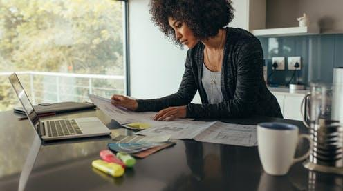 """<span class=""""caption"""">What employees and employers want to retain from home working post-COVID may not always be compatible.</span> <span class=""""attribution""""><a class=""""link rapid-noclick-resp"""" href=""""https://www.shutterstock.com/image-photo/female-designer-working-home-office-on-1243310149"""" rel=""""nofollow noopener"""" target=""""_blank"""" data-ylk=""""slk:Jacob Lund/Shutterstock"""">Jacob Lund/Shutterstock</a></span>"""
