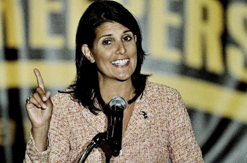 FILE - In this May 5, 2011, file photo, South Carolina Gov. Nikki Haley speaks in Greenville, S.C. The Republican National Committee has announced that Haley will be one of the speakers at the GOP Convention in Tampa. (AP Photo/ Richard Shiro)