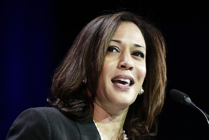 "Sen. Kamala Harris is the first Black woman and first Asian American vice presidential candidate on a major party ticket. <span class=""copyright"">(Jae C. Hong / Associated Press)</span>"
