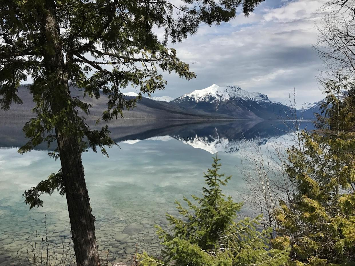 The clear water of Lake McDonald. Warming trends could melt the last of the park's 25 glaciers over the next decade. (Photo: Holly Bailey/Yahoo News)