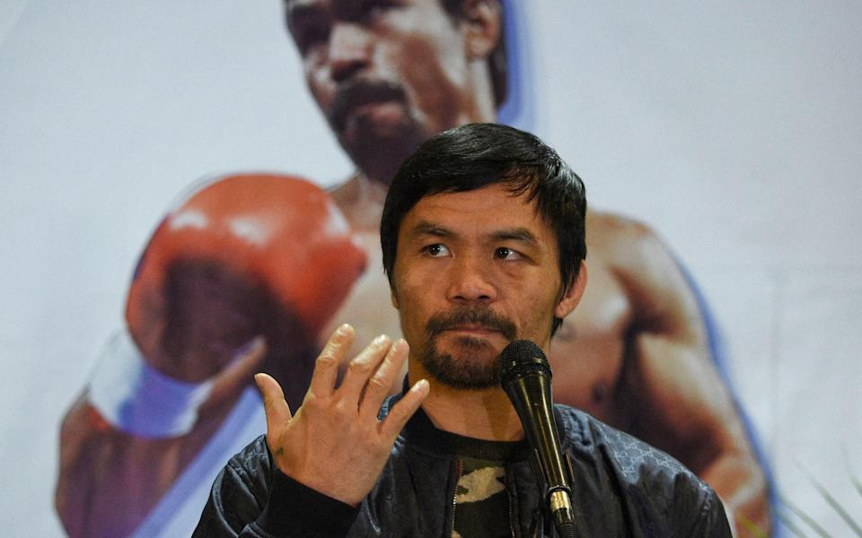 Philippines' Manny Pacquiao to run for president in 2022 - TED ALJIBE /AFP