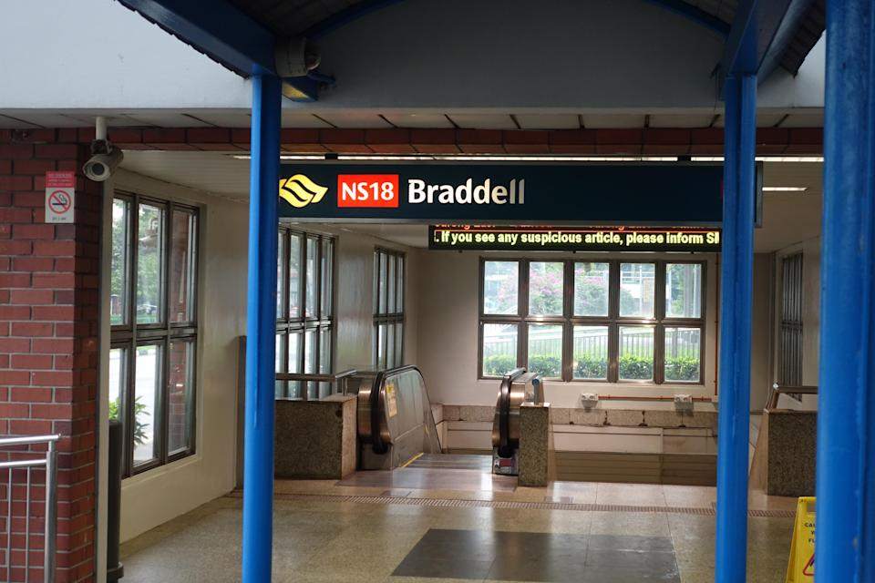 Braddell MRT Station Singapore (Yahoo News Singapore file photo)