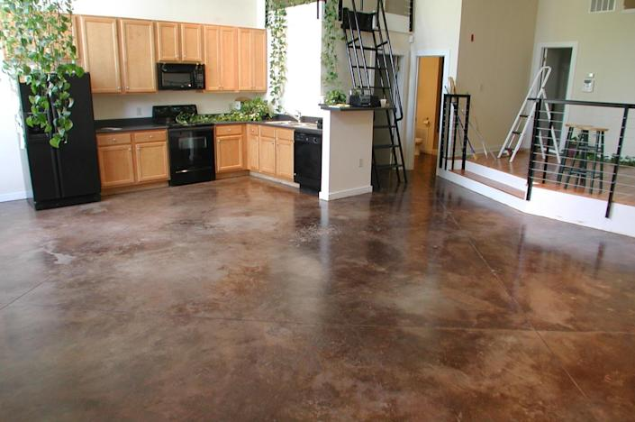 Concrete floors are also great for making quick work of any unwanted messes or lingering germs.