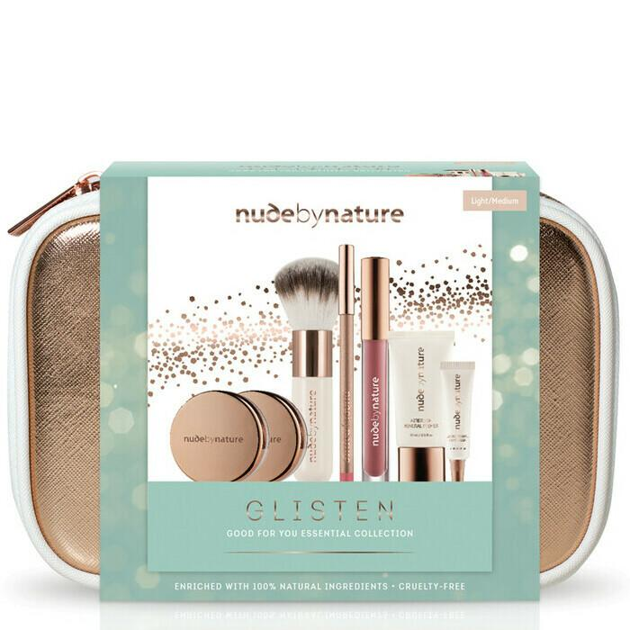 Nude by Nature Glisten Good For You Essential Collection, $49.95 from Nourished Life.