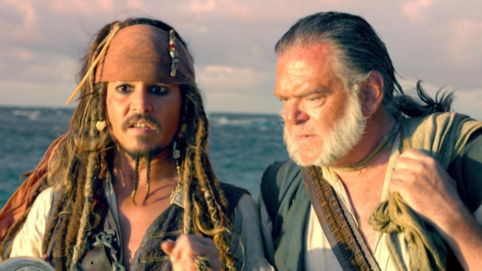 Johnny Depp and Kevin McNally in 'Pirates of the Caribbean: On Stranger Tides'. (Credit: Disney)