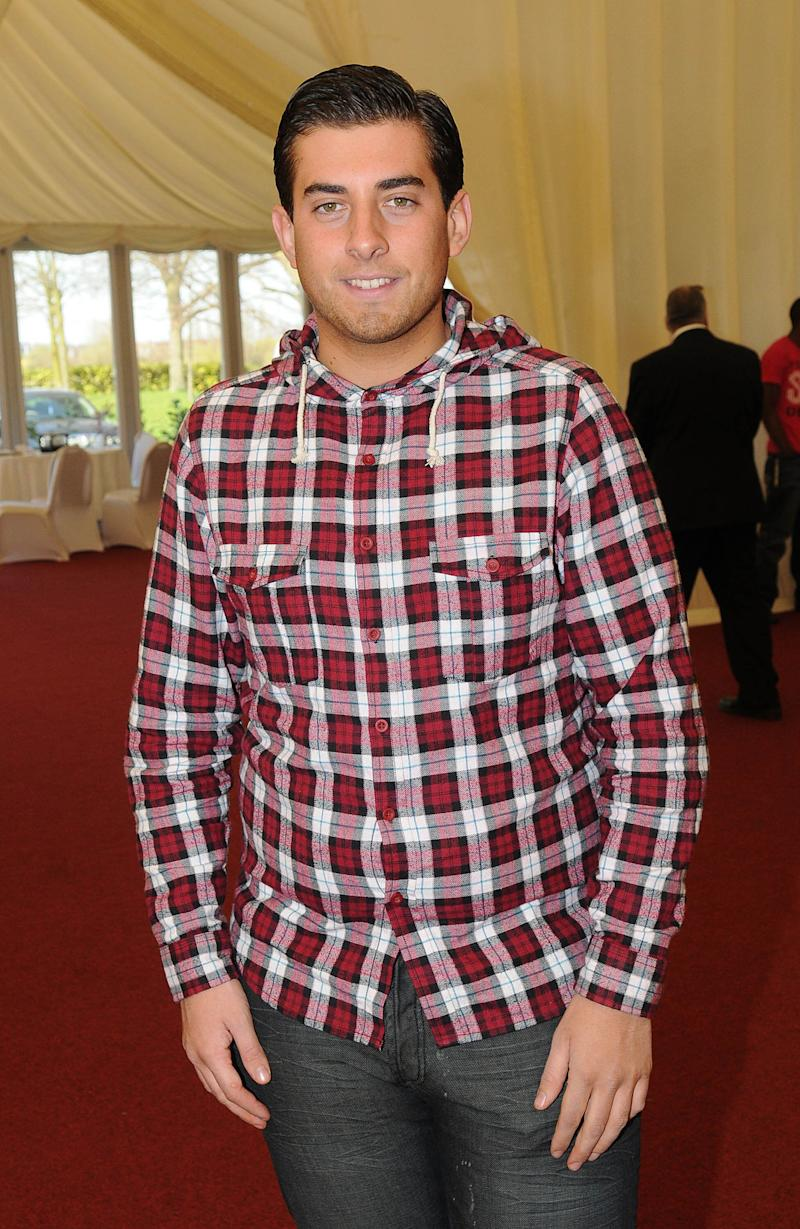 CHIGWELL, UNITED KINGDOM - MARCH 24: James Argent takes part in Essex Fashion Week at fairlop Waters Golf Club on March 24, 2011 in Chigwell, United Kingdom. (Photo by Stuart Wilson/Getty Images)