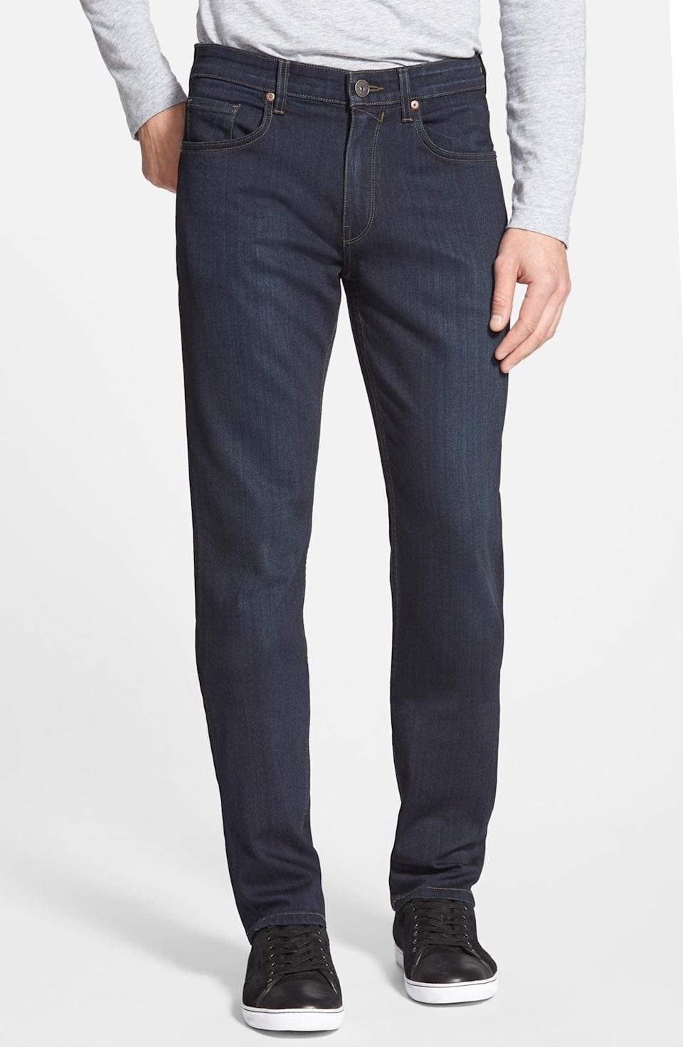 <p>Jeans are one of the most hotly contested items of men's fashion. These <span>Paige Transcend Federal Slim Straight Leg Jeans</span> ($185) are so cool.</p>