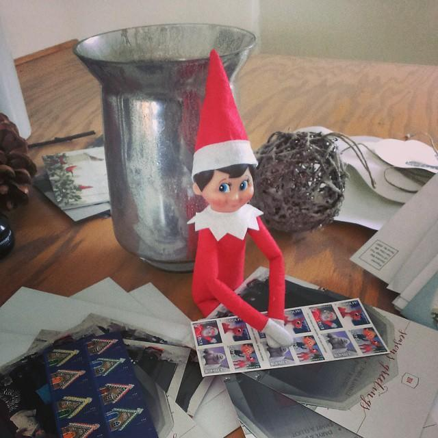 """<p>Why write, address, and stamp your own Christmas cards, when you can just snap a pic of your elf doing it all himself?</p><p><a href=""""https://instagram.com/p/wcAxmcj2MU&hidecaption=true"""" rel=""""nofollow noopener"""" target=""""_blank"""" data-ylk=""""slk:See the original post on Instagram"""" class=""""link rapid-noclick-resp"""">See the original post on Instagram</a></p>"""