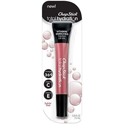 """<p><strong>Chapstick</strong></p><p>amazon.com</p><p><strong>$7.34</strong></p><p><a href=""""https://www.amazon.com/dp/B07D6Y2KLV?tag=syn-yahoo-20&ascsubtag=%5Bartid%7C10055.g.3325%5Bsrc%7Cyahoo-us"""" rel=""""nofollow noopener"""" target=""""_blank"""" data-ylk=""""slk:Shop Now"""" class=""""link rapid-noclick-resp"""">Shop Now</a></p><p>A winner of our <a href=""""https://www.goodhousekeeping.com/beauty-products/a32215214/best-beauty-awards-2020/"""" rel=""""nofollow noopener"""" target=""""_blank"""" data-ylk=""""slk:2020 Beauty Awards"""" class=""""link rapid-noclick-resp"""">2020 Beauty Awards</a>, this lip oil looks like gloss but functions like a soothing balm. Colors range from nude to deep-berry, and a combo of six plant oils plumps lips. One tester noted <strong>the formula left """"no stickiness,"""" yet """"lips felt hydrated, not parched.""""</strong></p>"""