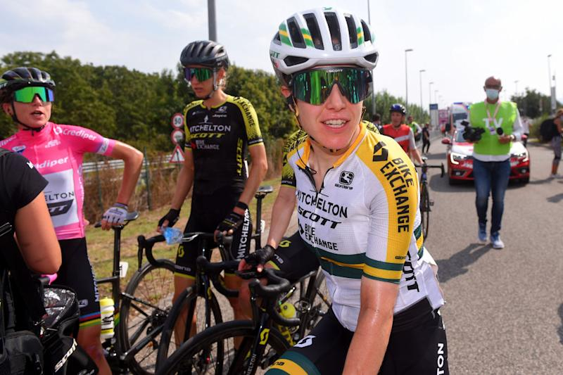 Australian road race champion Amanda Spratt (Mitchelton-Scott-Scott) – pictured at the 2020 Giro Rosa – will be replaced in the national squad for the road race at the World Championships by Canyon-SRAM's Tiffany Cromwell