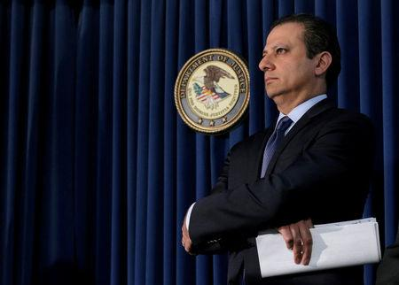 FILE PHOTO: Preet Bharara, U.S. Attorney for the Southern District of New York, attends a news conference in New York City, U.S. May 19, 2016.  REUTERS/Brendan McDermid/File photo