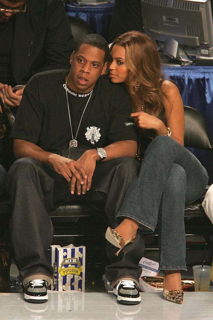 <p>The couple sat courtside to watch the NBA all star game in Colorado.</p>