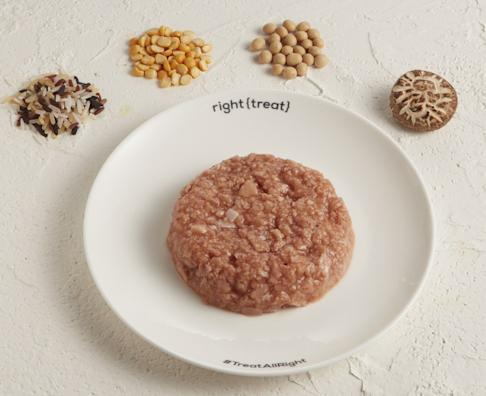 The ingredients of Omnipork, the plant-based meat product from Hong Kong-based start-up Green Monday, include a mixture of rice, peas, non-GMO (genetically modified organism) soy and shiitake mushroom. Photo: Handout