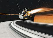 """<p>After spending an astounding 20 years in space, the <a href=""""https://www.jpl.nasa.gov/missions/cassini-huygens/"""" rel=""""nofollow noopener"""" target=""""_blank"""" data-ylk=""""slk:Cassini"""" class=""""link rapid-noclick-resp"""">Cassini</a> spacecraft and Huygens probe ended their mission on September 15, 2017. A collaboration between NASA, the European Space Agency, and the Italian Space Agency, the craft gathered information on Jupiter during a flyby, flew between Saturn's rings, and studied its moons throughout a full seasonal period. The mission came to an end with a final entry into Saturn's atmosphere. This decision was made to protect the biological composition of the surrounding moons.</p>"""