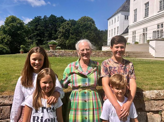 <p>July 2019: The foursome spent some quality time with their grandma, Queen Margrethe, 79. Photo: Instagram/detdanskekongehus.</p>
