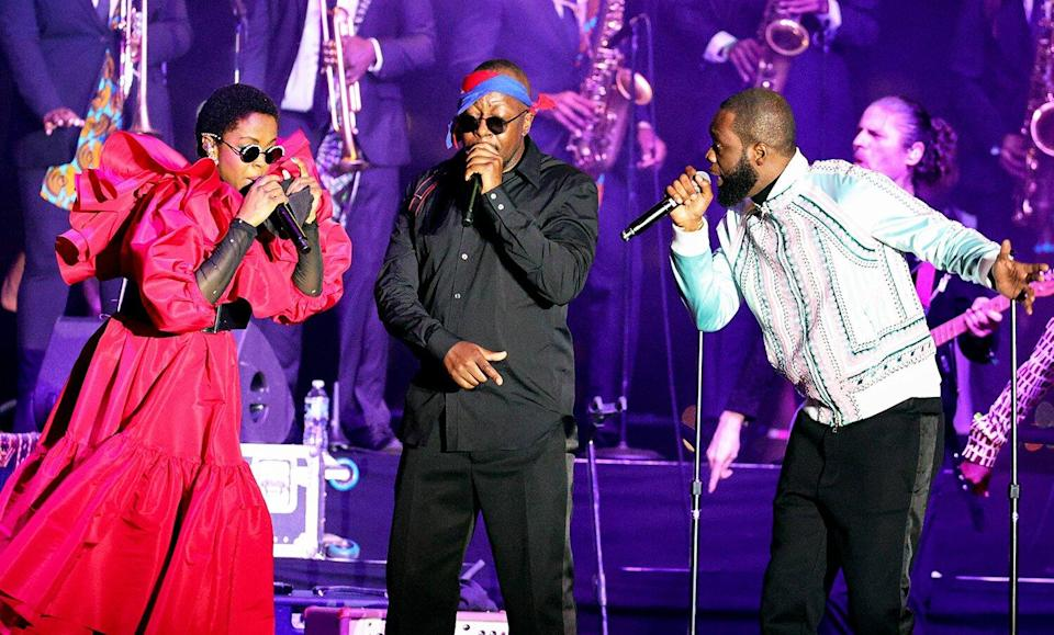 On Wed. 9/22, the reunited Fugees performed at Pier 17 in NYC in support of Global Citizen Live, a once-in-a-generation global broadcast event calling on world leaders to defend the planet and defeat poverty, airing on September 25. The show kicks off the Fugees 2021 World Tour.