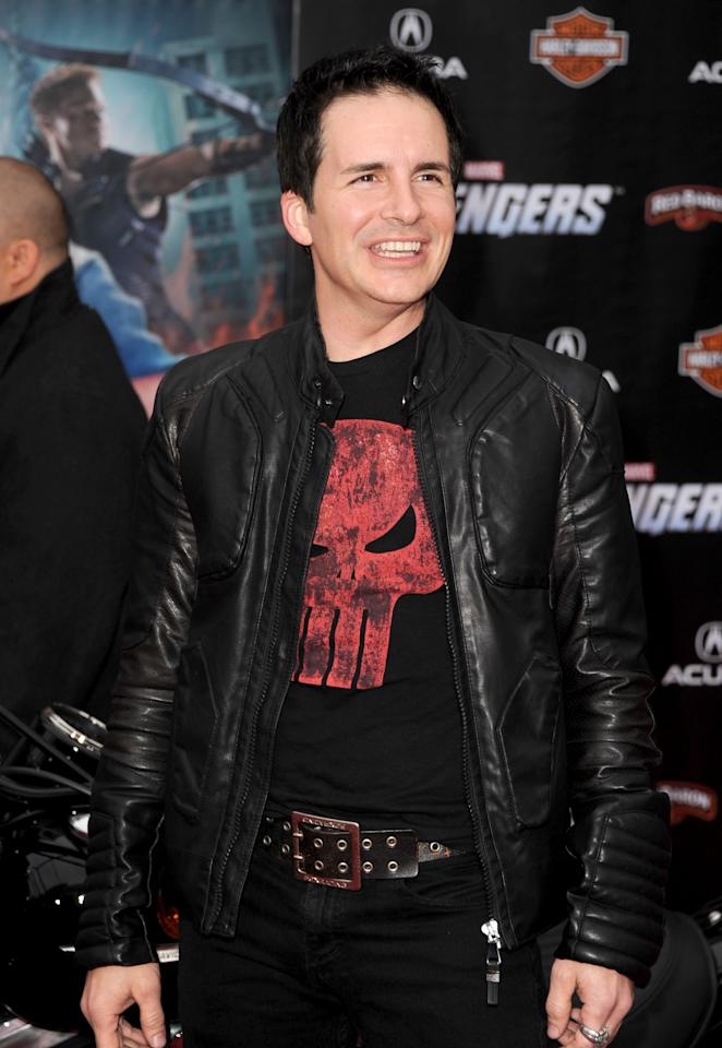 """HOLLYWOOD, CA - APRIL 11:  Actor/comedian Hal Sparks arrives at the premiere of Marvel Studios' """"The Avengers"""" at the El Capitan Theatre on April 11, 2012 in Hollywood, California.  (Photo by Kevin Winter/Getty Images)"""