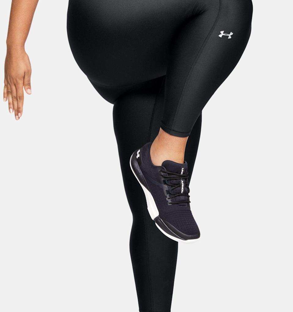 """<p><strong>UnderArmour</strong></p><p>underarmour.com</p><p><strong>$45.00</strong></p><p><a href=""""https://go.redirectingat.com?id=74968X1596630&url=https%3A%2F%2Fwww.underarmour.com%2Fen-us%2Fp%2Fbottoms%2Fwomens-heatgear-armour-ankle-crop%2F1353769.html&sref=https%3A%2F%2Fwww.prevention.com%2Ffitness%2Fworkout-clothes-gear%2Fg34943640%2Fplus-size-workout-clothes%2F"""" rel=""""nofollow noopener"""" target=""""_blank"""" data-ylk=""""slk:Shop Now"""" class=""""link rapid-noclick-resp"""">Shop Now</a></p><p>These leggings have a 4.6-star average review. Reviewers say they're supportive and flattering, and the maker says the fabric will keep you cool and dry, even in hot environments. They also feature strategically placed mesh panels for extra breathability and four-way stretch material that won't inhibit your movement in the slightest.</p>"""