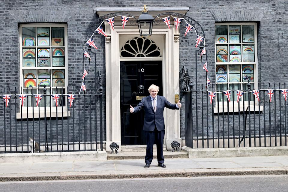 PM Boris Johnson outside 10 Downing Street earlier this week. Photo: Getty