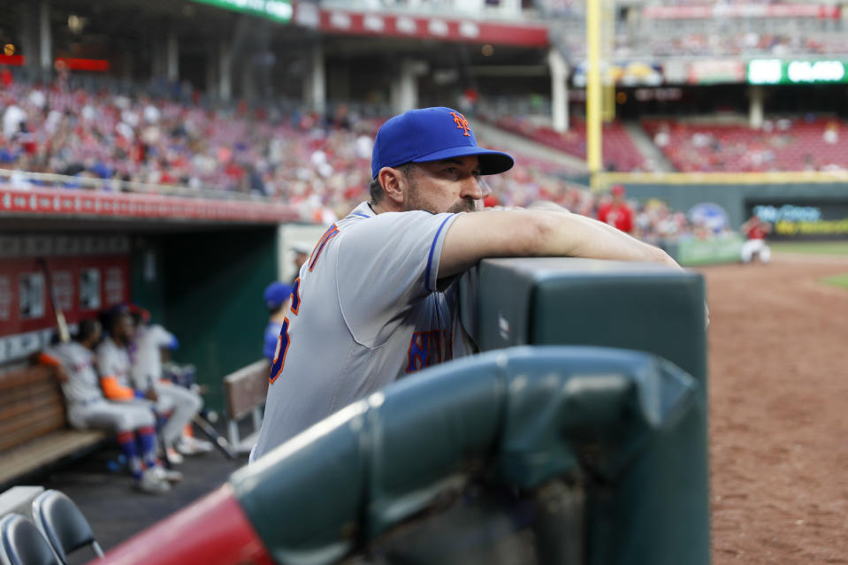 The Mets were Mets-ing again on Wednesday when they hit out of order against the Reds. (AP Photo/John Minchillo)