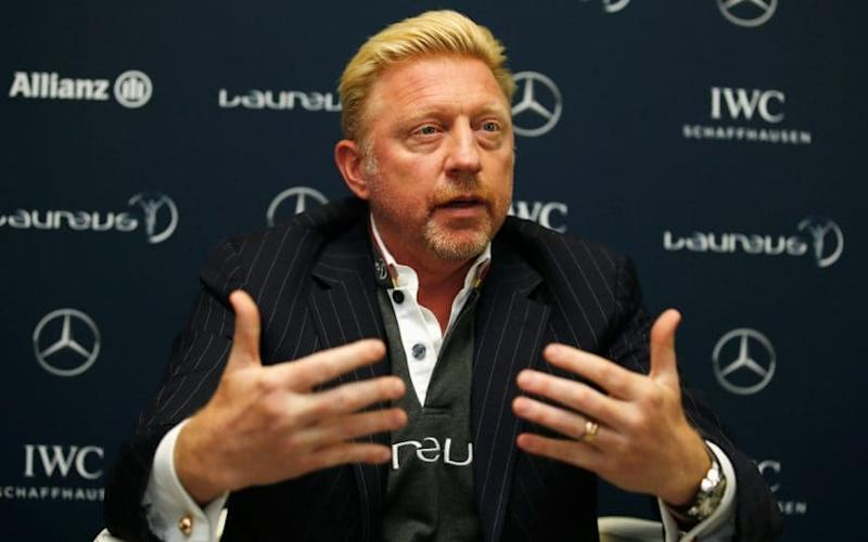 Boris Becker is interviewed prior to the 2016 Laureus World Sports Awards - 2016 Getty Images