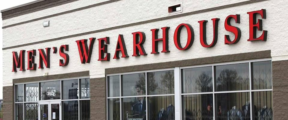 Columbus,Ohio/USA April 24, 2019:  Men's Wearhouse is a nation retail discounter of Men's suits and clothing accessories.