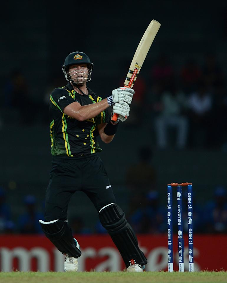 COLOMBO, SRI LANKA - SEPTEMBER 19:  Cameron White of Australia bats during ICC World Twenty20 2012: Group B match between Australia and Ireland at R. Premadasa Stadium on September 19, 2012 in Colombo, Sri Lanka.  (Photo by Gareth Copley/Getty Images)
