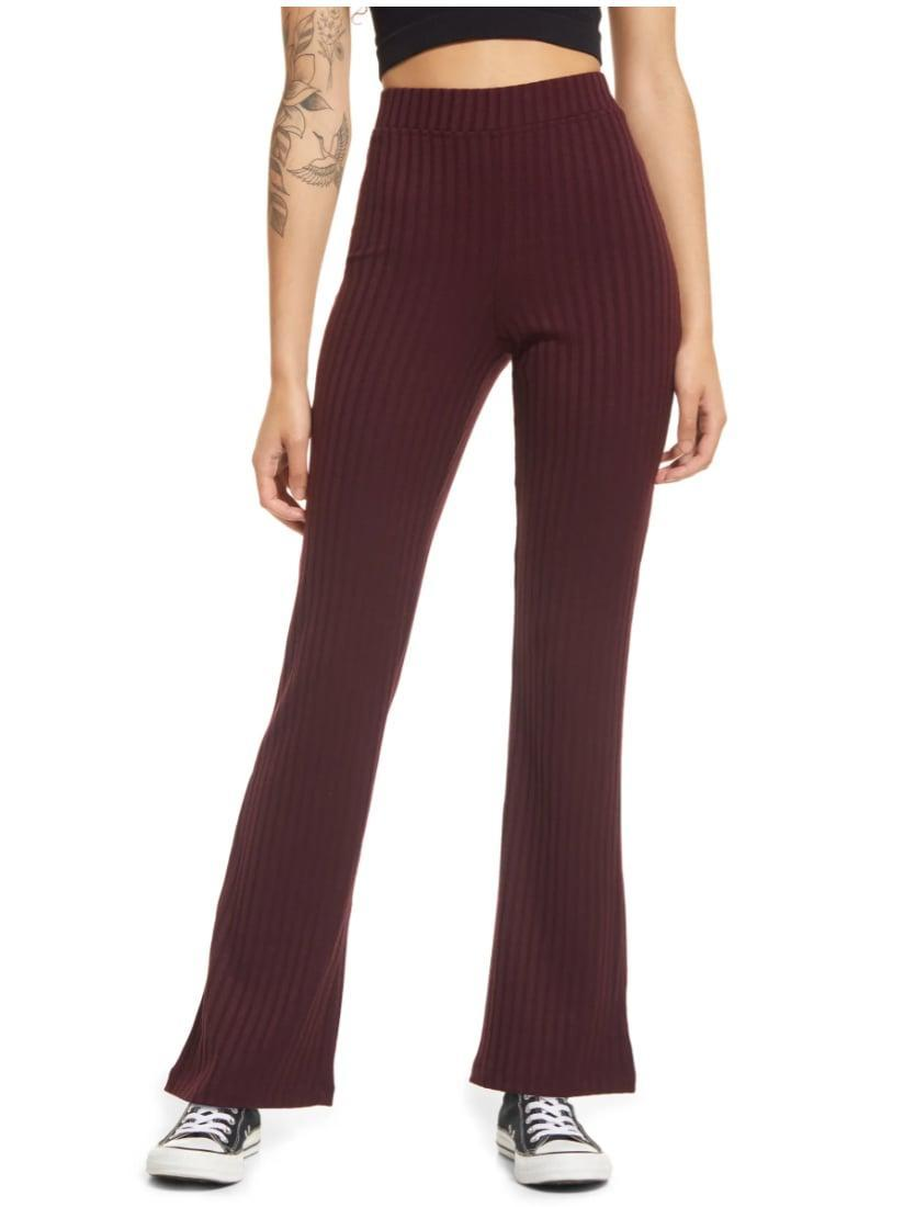 <p>Confession time: though we're still spending a lot of time at home, we're kind of over wearing leggings all day, every day. But pants that zipper or button? Um, no thank you. Fortunately, these <span>BP. Ribbed Knit Pants</span> ($29) are a happy medium between the two.</p>