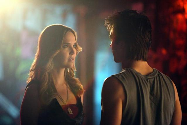 """Because the Night"" -- Arielle Kebbel as Lexi and Ian Somerhalder as Damon"