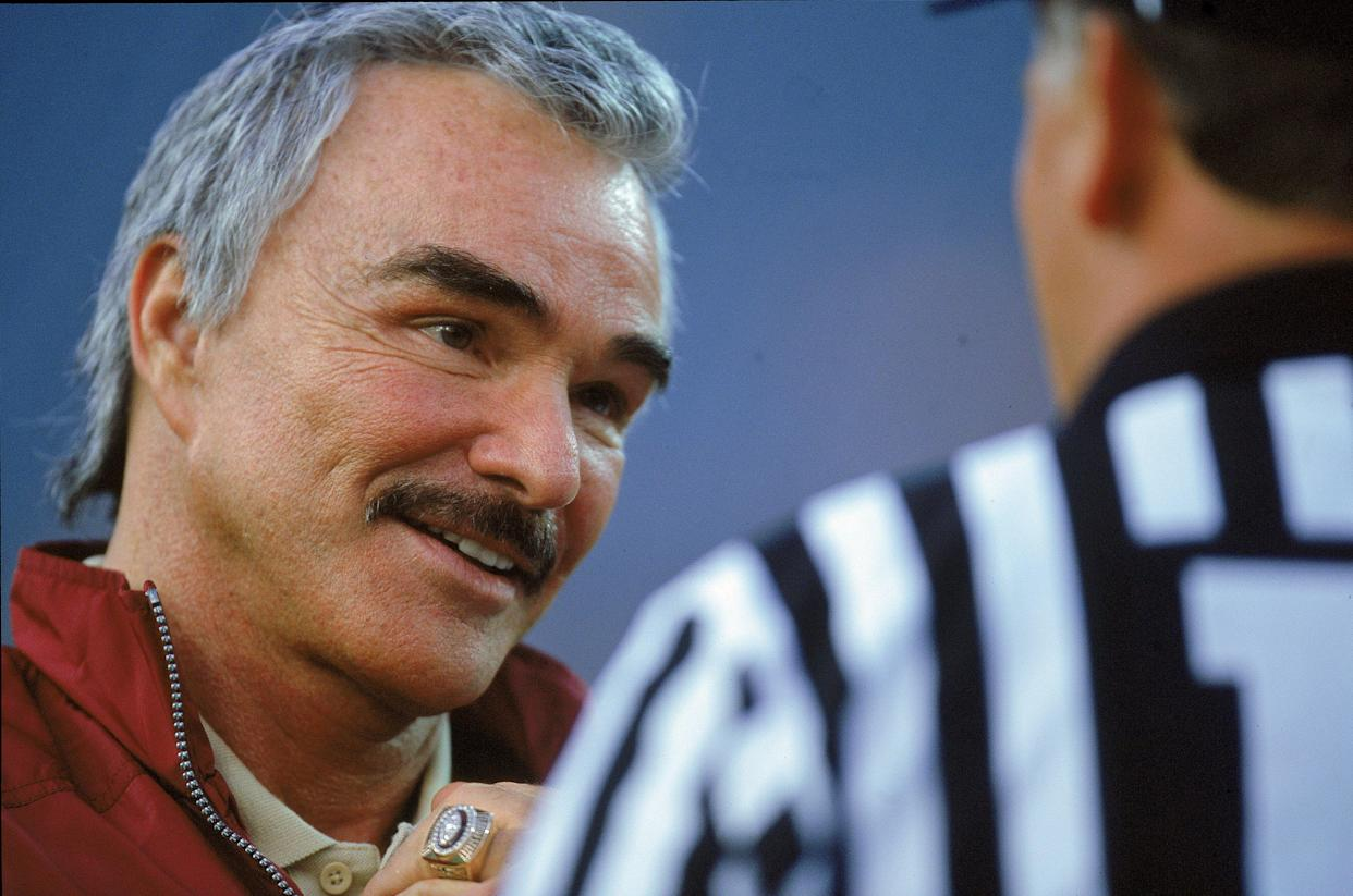 Burt Reynolds roomed with College GameDay's Lee Corso at Florida State, and Corso has fond memories of his long friendship with the famous actor. (Getty)