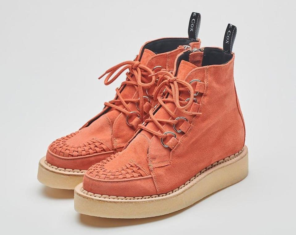 Coral Studios x Ember Niche x George Cox D-Ring Derby Creeper Boot