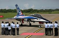Taiwan's 'Brave Eagle' Advanced Jet Trainer at the Ching Chuan Kang Airbase in Taichung