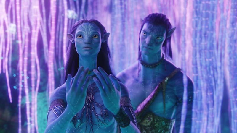 Neytiri (Zoe Saldana) and Jake Sully (Sam Worthington) in Avatar. (20th Century Fox)