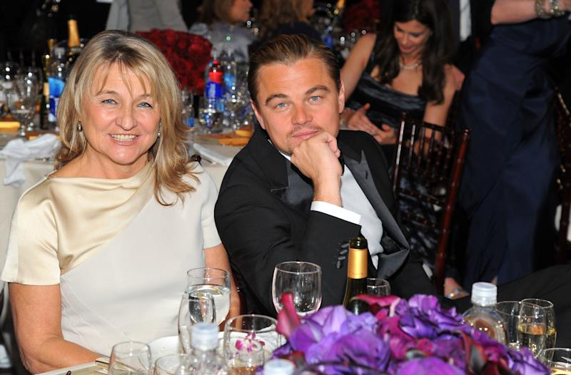 Irmelin Indenbirken and Leonardo DiCaprio attend the 69th Annual Golden Globe Awards held at the Beverly Hilton Hotel in Los Angeles, January 2012.