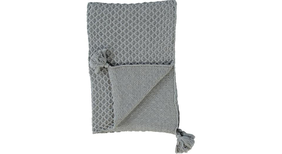 PENGUIN HOME Grey Knitted Throw
