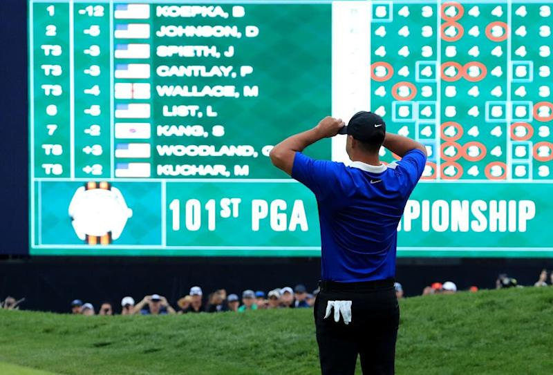 'Half-choking' Brooks Koepka reboots to pip Dustin Johnson