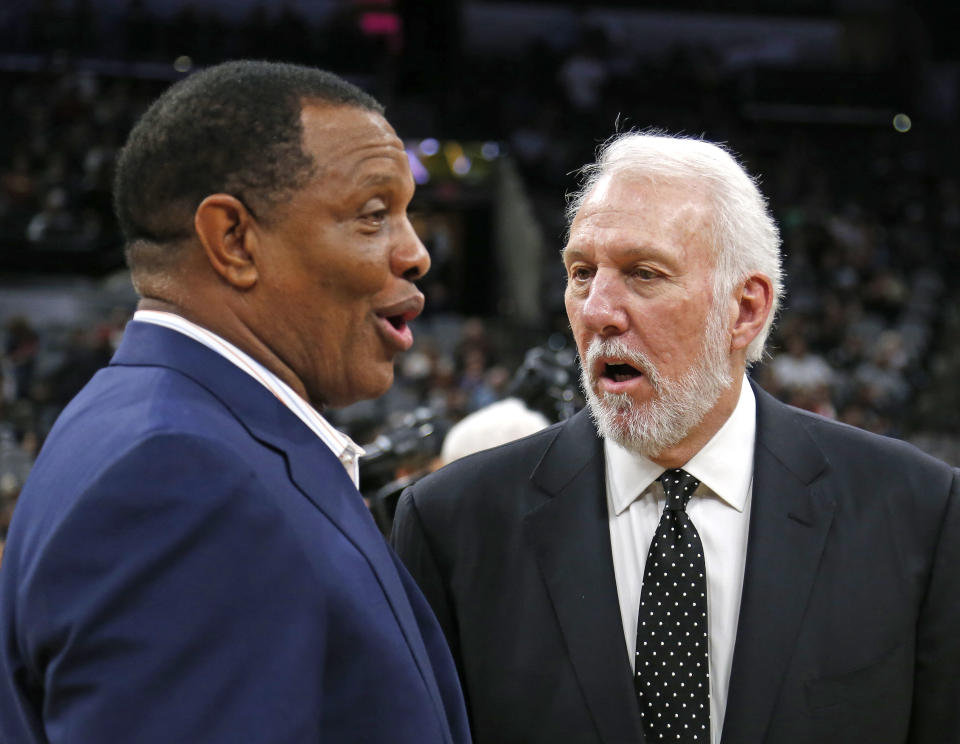 The coaches union is worried the NBA's bubble-league protocol will restrict older coaches. (Photo by Ronald Cortes/Getty Images)