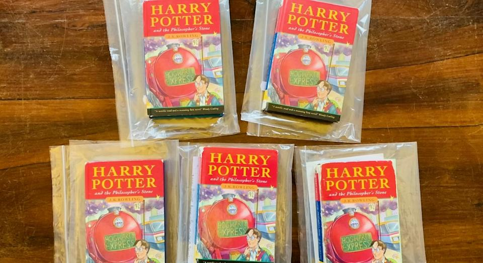 First edition Harry Potter hardbacks (SWNS)