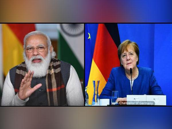 Prime Minister Narendra Modi on Wednesday held a video-teleconference with German counterpart Federal Chancellor Angela Merkel,