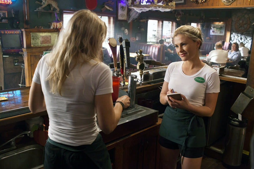 "<p><b>2. Merlotte's (""<a href=""http://tv.yahoo.com/true-blood/show/39147"">True Blood</a>"") </b><br><br> Whether you are looking for a cool refreshing cocktail or a room temperature glass of fake blood, this is the place to go. Shape-shifting owner Sam is more than accommodating of all manner of supernatural beings (even when they trash the place or murder people on his property), and while the local Bon Temps residents may be on the judgmental side, since we're not currently sporting our fangs, we'd probably fit in just fine. Just don't expect to get the same waitress twice, as they tend to die or forget they have jobs. Maybe we'd even do an after-hours trip to Fangtasia, for some fangbanging fun.</p>"