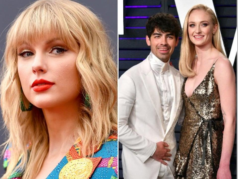 <p>Joe Jonas' wife Sophie Turner reacts to Taylor Swift's Mr Perfectly Fine</p> (Getty Images)